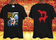 BLACK 2 side hot Goodfellas Painting Old Man with Two Dogs t-shirt shirt tee