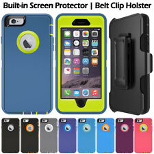 Defender Series Rugged Armor Case Cover + Belt Clip Holster For iPhone & Samsung
