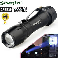 5000LM CREE Q5 AA/14500 3Mode ZOOM LED Flashlight MINI Tactical Police Torch