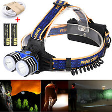 10000LM 2X XML T6 USB AAA/AA/18650 Headlamp Headlight Flashlight Head Lamp Torch