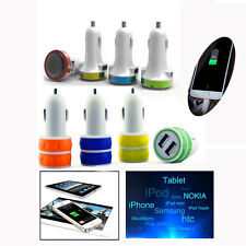 Universal 2 In 1 Port Mini Dual USB Car Charger Adapter Bullet For SmartPhone