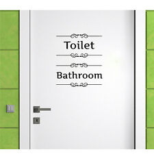 New Removable Toilet Wall Sticker Decal Vinyl Mural Art PVC Bathroom Room Decor