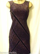 NEW £40 ***SALE*** JANE NORMAN SIZE 12 BLACK & PINK COSMIC GLITTER  PARTY DRESS