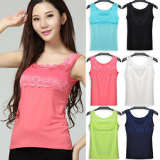 Stylish Women Lady Lace Collar Tank Tops Blouse Casual Sleeve​less T-Shirt Vest