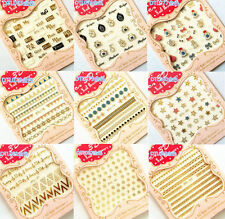Manicure Decoration Stamping Hot Mix Decal 3D Gold Tips Nail Art Stickers DIY