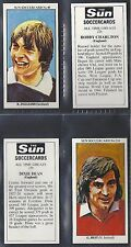 SUN - SOCCER CARDS FOOTBALL (NUMBERS 871-900) PLEASE SELECT YOUR CARD.