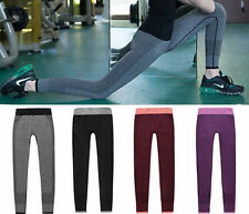 Womens Leggings Compression Wear Yoga Pants Fitness Trousers Gym Workout