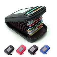 Fashion Men's/Women's Mini Leather Wallet ID Credit Cards Holder Purse Hot Sale