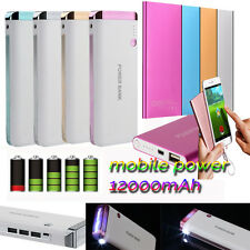 Ultrathin 12000mAh Portable USB External Battery Charger Power Bank For Phone