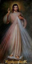 Handcraft Portrait Oil Painting on Canvas Forgiving Jesus Christ 24X36inch #09