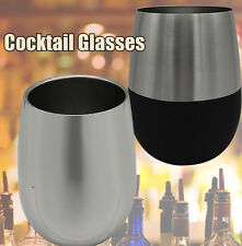Modern Innovations Stainless Steel Stemless Wine Glasses Cocktail Glasses 9~13OZ