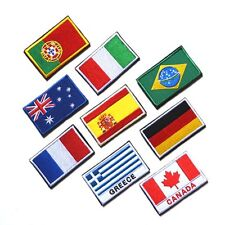 Chic Choice Nation Flag Emblem Patch Embroidered Applique Country Sew Trim  H51
