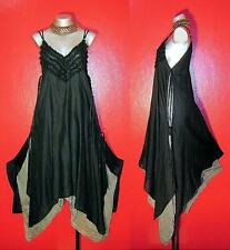 LONG FLOATY FAIRY EMPIRE DRESS Plus Size 24 26 28 Gothic Medieval Gypsy Vintage