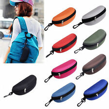 Hot Unisex Portable Zipper Eye Glasses Sunglasses Clam Shell Hard Case Protector