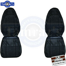 1970 Challenger SE R/T Front & Rear Seat Covers Upholstery Leather PUI Black