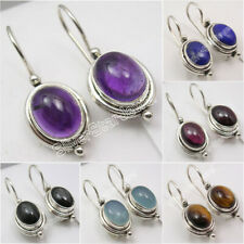 925 Silver Moonstone, Lapis, Pearl & Other Choice Gemstone Variation Earrings
