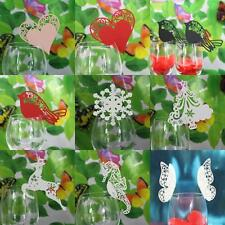 50x Wedding Party Wine Glass Laser Cut Name Mark Cards Table Setting Decor