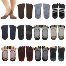 Women Ladies Cotton Five Toes Invisible Liner Ankle Socks Low Cut No Show Casual
