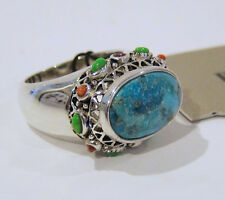 Barse Ring Turquoise, Garnet, Coral Sterling Silver Statement Size 7 - NEW!
