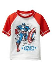 Baby Gap NWT Junk Food rash guard Captain America swim shirt super hero TWINS