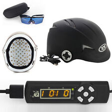 128 Diodes Laser Cap Hair ReGrowth Helmet LLLT Hair Loss Treatment With Glasses