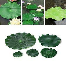 New Artificial Water Lily Lotus Leaf Without Flower For Floral Garden Pond Tank