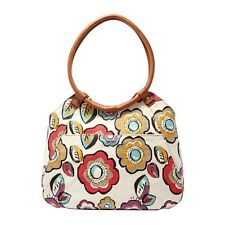 BRAND NEW RELIC by FOSSIL WOMEN'S TEAGAN RING SHOPPER/TOTE MULTI FLOWER / TAN