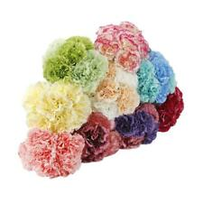Artificial Silk Flowers 6 Single Carnation Bouquet Wedding Party Decor