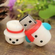 Cute Cartoon Snowman U Disk USB 2.0 Memory Stick Flash Pen Drive 4/8/16GB