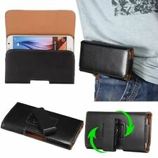 New Portable PU Leather Cell Phone Cover Pouch Waist Bag Wallet Belt-Clip Purse