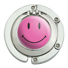 Purse Hanger Holder Hook with Mirror Smiley Face