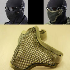 New Tactical Airsoft Military Mask Strike Metal Mesh Protective Mask Half Face