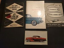 1955 Plymouth Owners Manual, Service References, Postcard CP102