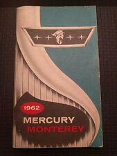 1962 Mercury Monterey Owner's Manual Good Condition! CP103