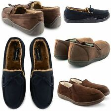 NEW MENS COMFY TWIN GUSSET LIGHTWEIGHT GENTS SLIPPERS INDOOR SHOES WINTER SIZE