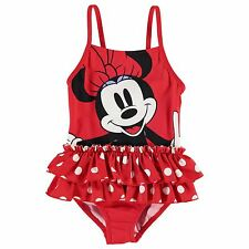 Girls Official Licensed Disney Minnie Mouse Swimsuit Swimming Costume