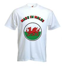MADE IN WALES WELSH DRAGON T-SHIRT - Cymru Rugby - Sizes Small to XXXL