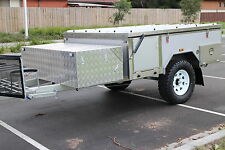 New Off Road Front Forward Hard Floor Camper Trailer Caravan 4X4 4WD White