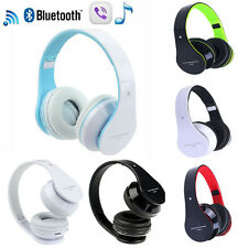Universal Foldable Wireless Bluetooth Stereo Headset Headphones Mic For iPhone