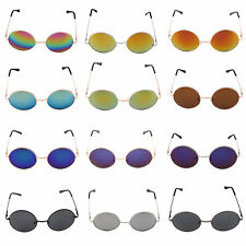 New Eyewear Retro Round Sunglasses Reflective Small Round Frame glasses FE