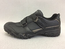 New 76424 Skechers Leather Compulsions Work Shoes Slip Resistant, Black
