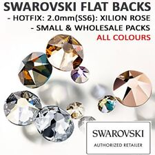 SWAROVSKI Flat Back Crystals / Rhinestones: 2.0mm(SS6) HOTFIX 2038: ALL COLOURS