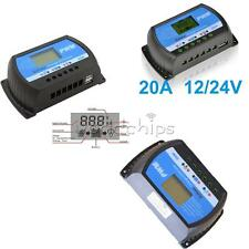 PWM 10A 20A 30A 12V/24V Solar Panel Charger Controller Battery Regulator USB LCD