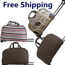 LUGGAGE BAG WHEELED TRAVEL HOLDALL CABIN TROLLEY CASE SUITCASE HT