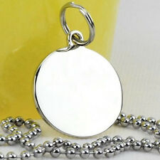 Army ID Dog Tag Pendant Necklace Military Chain Titanium Stainless Steel Silver