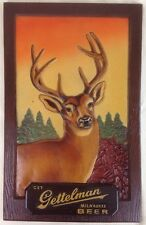 VTG 1950s GETTELMAN BEER BUCK BAR SIGN MILWAUKEE DEER HUNTING GAME ROOM RARE