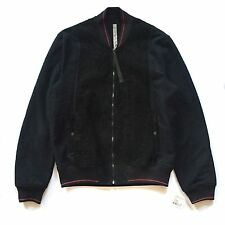 NWT $865 Damir Doma Silent Men's Distressed Suede Terry Bomber Jacket AUTHENTIC