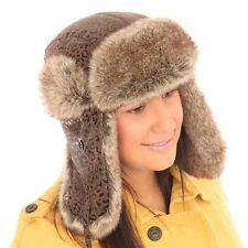 New Mens Womens Unisex Animal Print Trapper Warm Winter Thermal Hat AW112