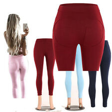 Womens High Waist Skinny Bodycon Casual Stretch Jogger Trousers Pencil Pants