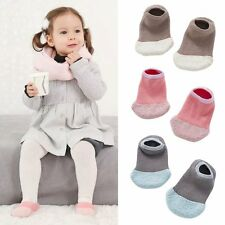 Chic Baby Kids Non-slip Slipper Sock Soft Warmer Coral Velvet Warmers Boat Socks